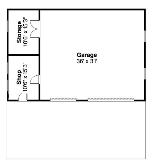 Traditional Floor Plan - Main Floor Plan Plan #124-801
