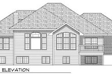 Dream House Plan - Traditional Exterior - Rear Elevation Plan #70-773