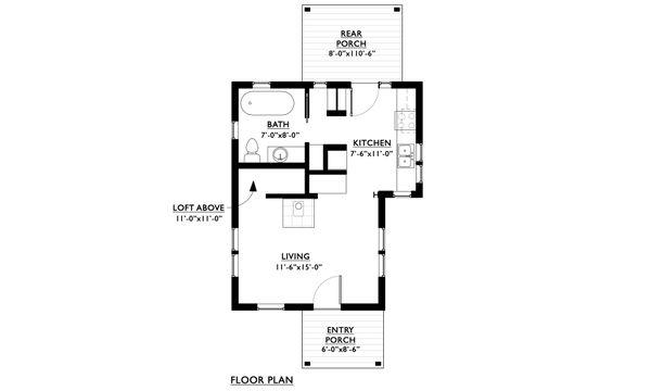 Craftsman Floor Plan - Main Floor Plan Plan #890-11