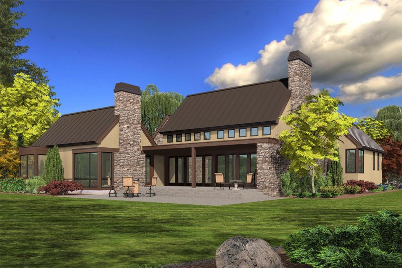 Modern Exterior - Rear Elevation Plan #48-478 - Houseplans.com