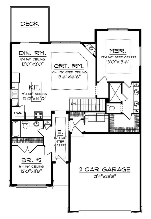 Dream House Plan - Prairie Floor Plan - Main Floor Plan #70-1261