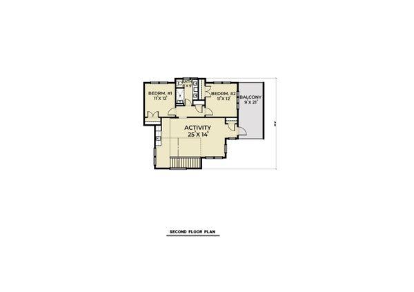 Dream House Plan - Farmhouse Floor Plan - Upper Floor Plan #1070-106