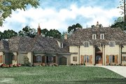 European Style House Plan - 6 Beds 6.5 Baths 6696 Sq/Ft Plan #17-2366 Exterior - Front Elevation