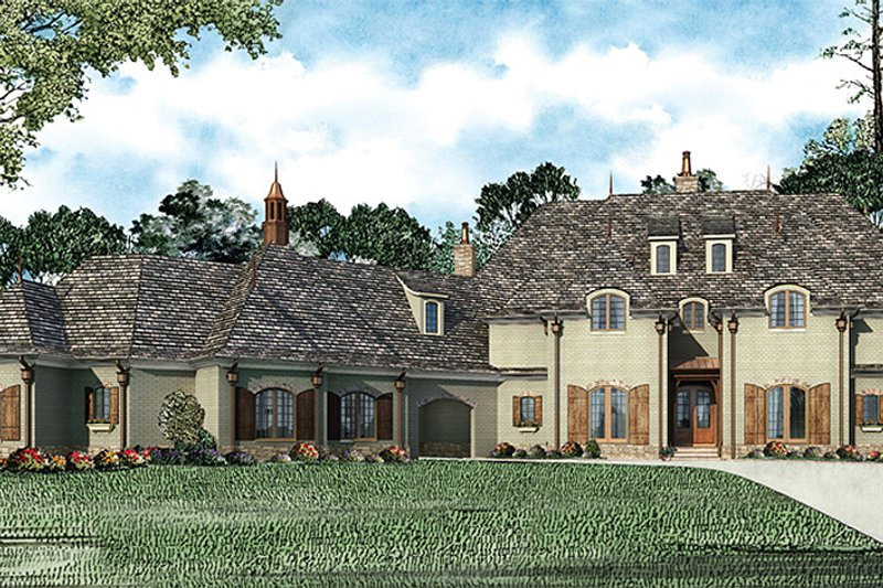 Dream House Plan - European Exterior - Front Elevation Plan #17-2366
