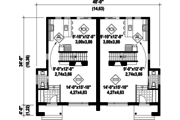 Contemporary Style House Plan - 6 Beds 2 Baths 2832 Sq/Ft Plan #25-4516 Floor Plan - Main Floor Plan