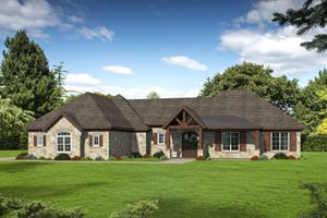 Country Exterior - Front Elevation Plan #932-79