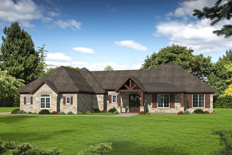 Architectural House Design - Country Exterior - Front Elevation Plan #932-79