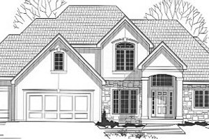 Traditional Exterior - Front Elevation Plan #67-104