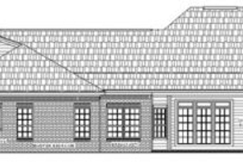 European Exterior - Rear Elevation Plan #21-201 - Houseplans.com