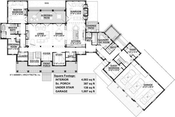 House Plan Design - Country Floor Plan - Main Floor Plan #928-320