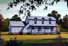 Dream House Plan - Country Exterior - Front Elevation Plan #45-318