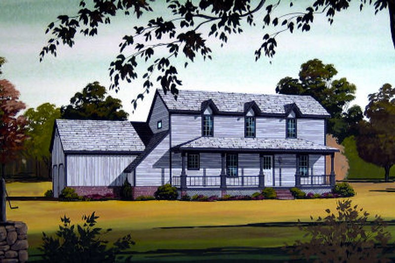 Country Exterior - Front Elevation Plan #45-318
