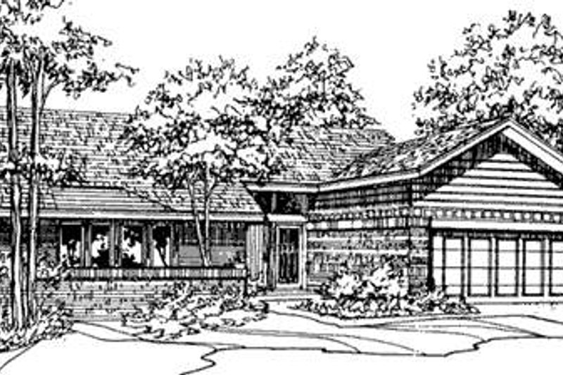 Ranch Exterior - Front Elevation Plan #320-387