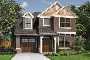Cottage Exterior - Front Elevation Plan #48-674
