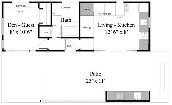 Contemporary Floor Plan - Main Floor Plan Plan #917-5
