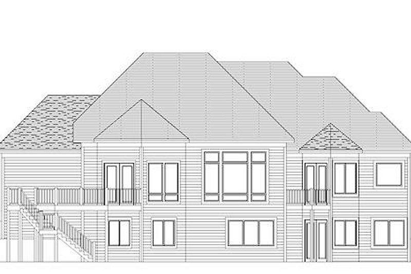 European Exterior - Rear Elevation Plan #51-354 - Houseplans.com