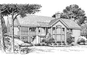 Ranch Style House Plan - 3 Beds 2 Baths 1533 Sq/Ft Plan #57-341 Exterior - Rear Elevation