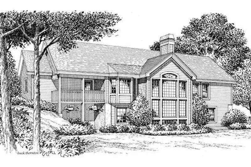Ranch Exterior - Rear Elevation Plan #57-341 - Houseplans.com