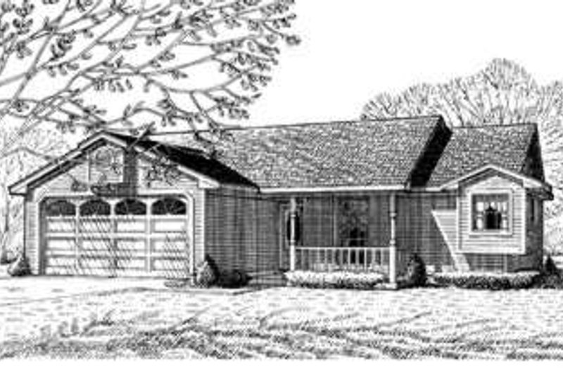 Ranch Exterior - Front Elevation Plan #410-163