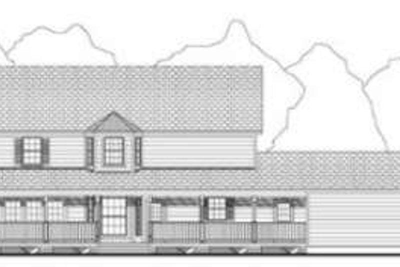 Country Exterior - Rear Elevation Plan #406-167 - Houseplans.com
