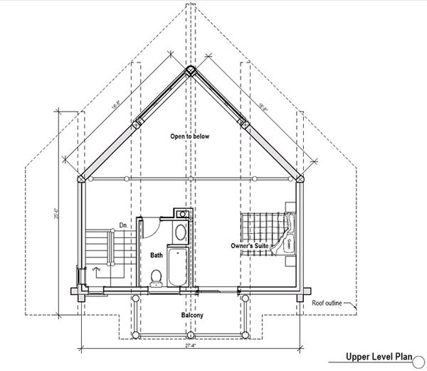 Log Floor Plan - Upper Floor Plan Plan #451-9