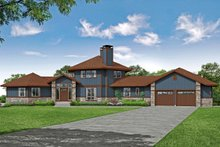 Dream House Plan - Craftsman Exterior - Front Elevation Plan #124-1206