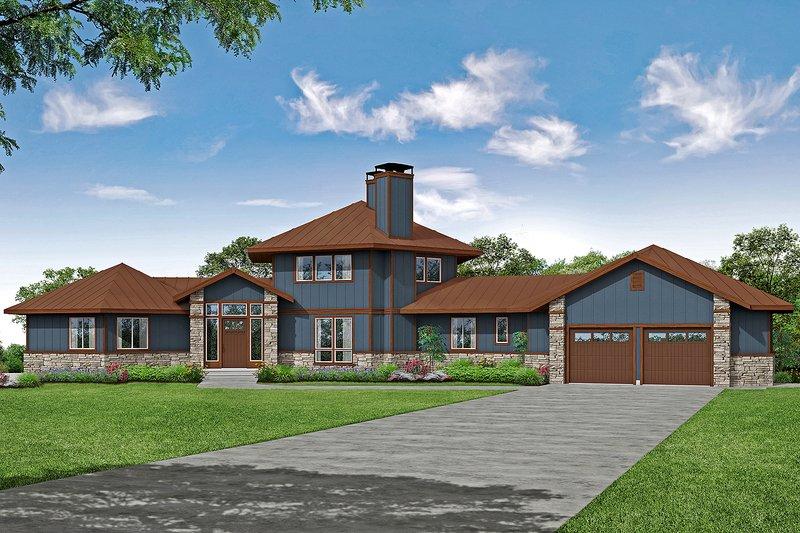 Craftsman Exterior - Front Elevation Plan #124-1206