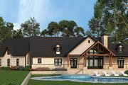 Country Style House Plan - 3 Beds 2.5 Baths 2666 Sq/Ft Plan #119-365 Exterior - Rear Elevation