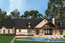 Country Exterior - Rear Elevation Plan #119-365