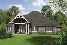Dream House Plan - Rear view - 2200 square foot Craftsman home