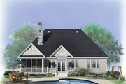 Country Style House Plan - 3 Beds 2 Baths 1830 Sq/Ft Plan #929-739 Exterior - Rear Elevation