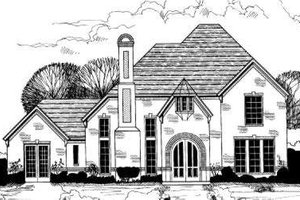 European Exterior - Front Elevation Plan #317-127