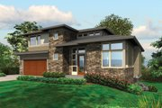 Prairie Style House Plan - 4 Beds 3.5 Baths 3651 Sq/Ft Plan #48-245 Exterior - Front Elevation