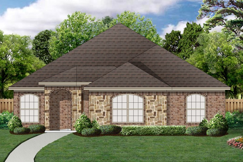 Traditional Exterior - Front Elevation Plan #84-580 - Houseplans.com