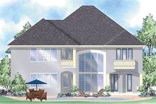 House Plan Design - Mediterranean Exterior - Rear Elevation Plan #930-289