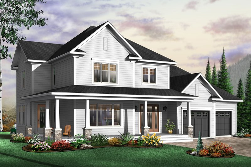 Dream House Plan - Traditional Exterior - Front Elevation Plan #23-410