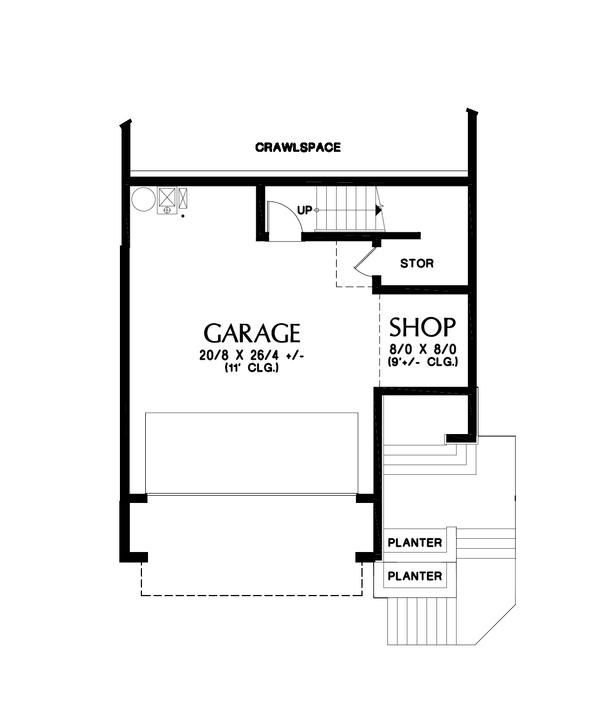 Contemporary Floor Plan - Lower Floor Plan Plan #48-991
