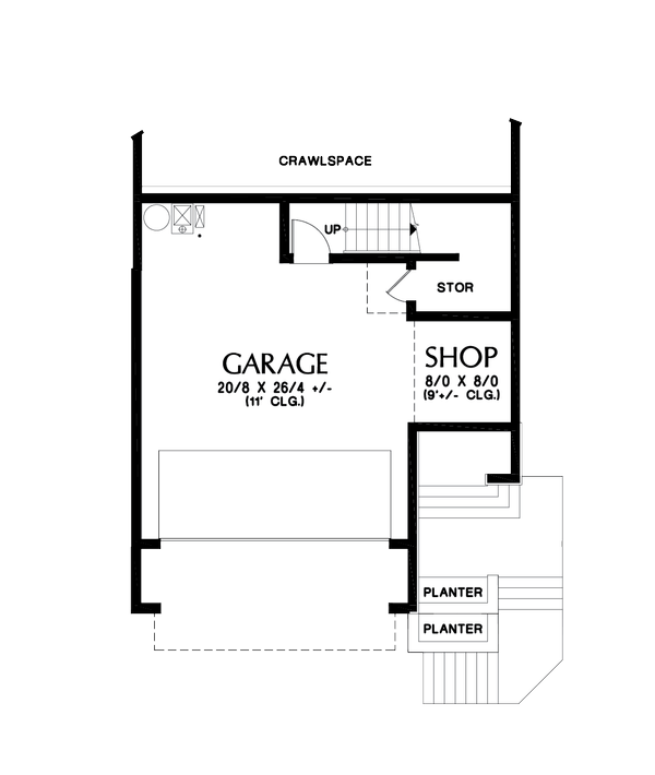 House Plan Design - Contemporary Floor Plan - Lower Floor Plan #48-991