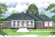European Style House Plan - 4 Beds 3.5 Baths 3042 Sq/Ft Plan #36-228 Exterior - Front Elevation