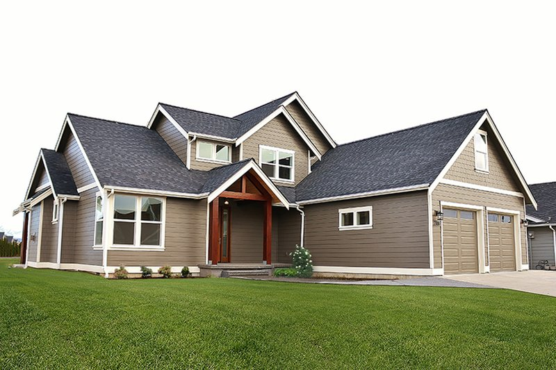 Craftsman Style House Plan - 3 Beds 2.5 Baths 2206 Sq/Ft Plan #1070-11 Exterior - Front Elevation