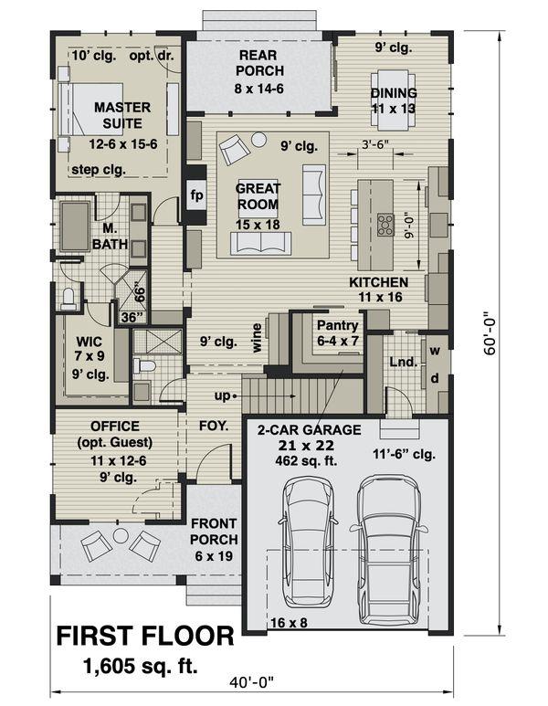 Farmhouse Floor Plan - Main Floor Plan #51-1172