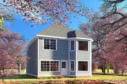 Craftsman Style House Plan - 3 Beds 2.5 Baths 1769 Sq/Ft Plan #923-196 Exterior - Rear Elevation
