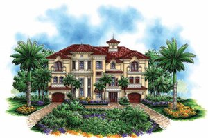 House Design - Mediterranean Exterior - Front Elevation Plan #1017-48