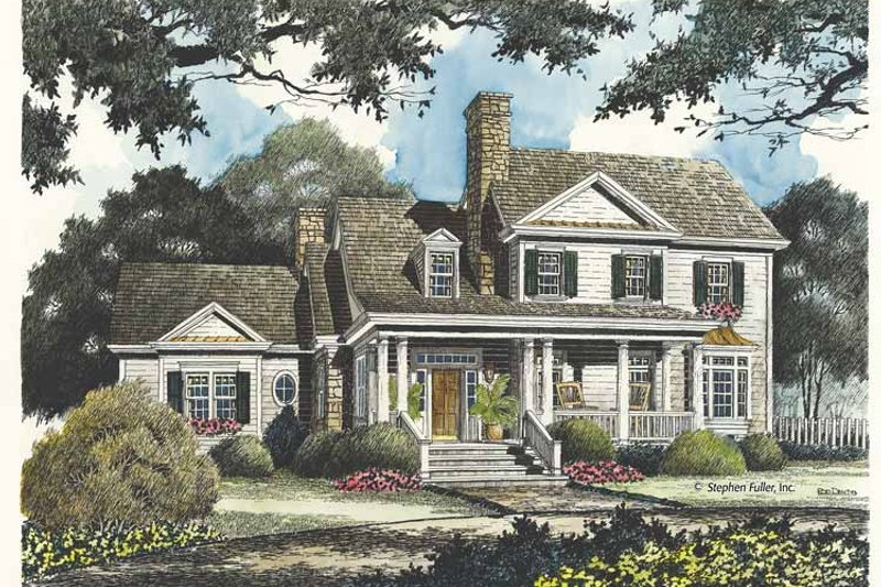Country Exterior - Front Elevation Plan #429-429