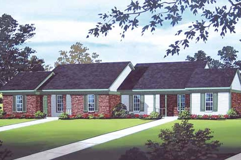 Traditional Exterior - Front Elevation Plan #45-394
