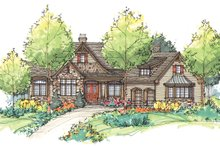 Dream House Plan - Craftsman Exterior - Front Elevation Plan #929-932