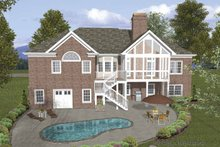 Craftsman Exterior - Rear Elevation Plan #56-688