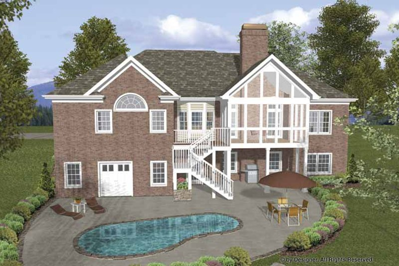 Craftsman Exterior - Rear Elevation Plan #56-688 - Houseplans.com
