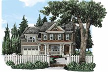 House Plan Design - Traditional Exterior - Front Elevation Plan #927-494