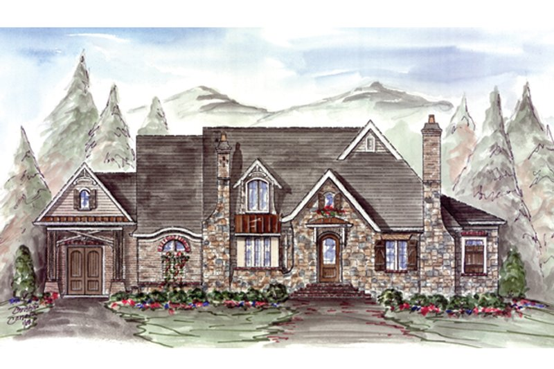 Craftsman Exterior - Front Elevation Plan #54-371 - Houseplans.com